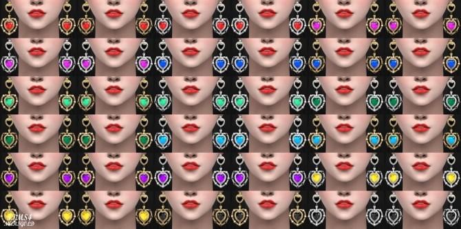 Sims 4 22 Heart Earrings at Marigold