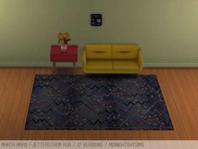 Sims 4 Swedish rugs at Midnightskysims