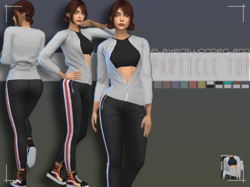 Sims 4 Particle Outfit (Jacket + Top) at PW's Creations