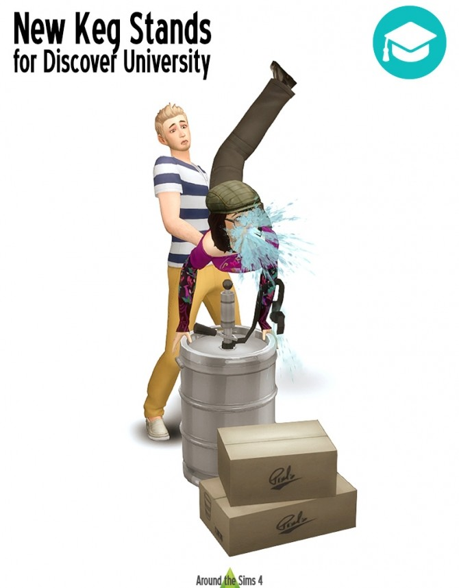 Keg stands for Discover University by Sandy at Around the Sims 4 image 2076 670x858 Sims 4 Updates
