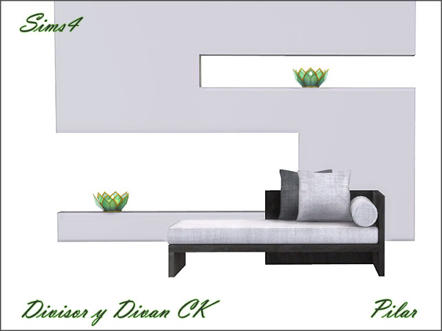 Sofa and divider by Pilar at SimControl image 2096 Sims 4 Updates