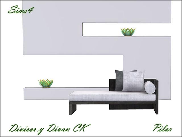 Sofa and divider by Pilar at SimControl image 2096 Sims 4 Updates