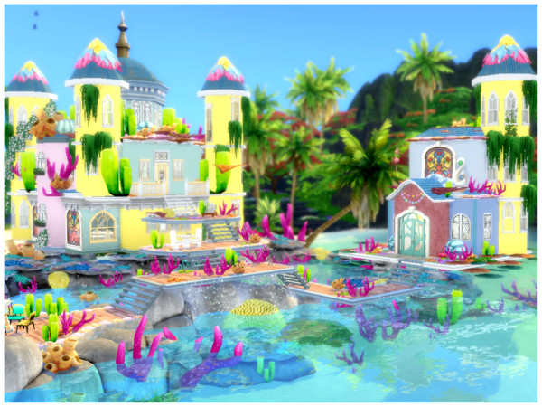 Mermaid Castle by Mini Simmer at TSR image 2108 Sims 4 Updates