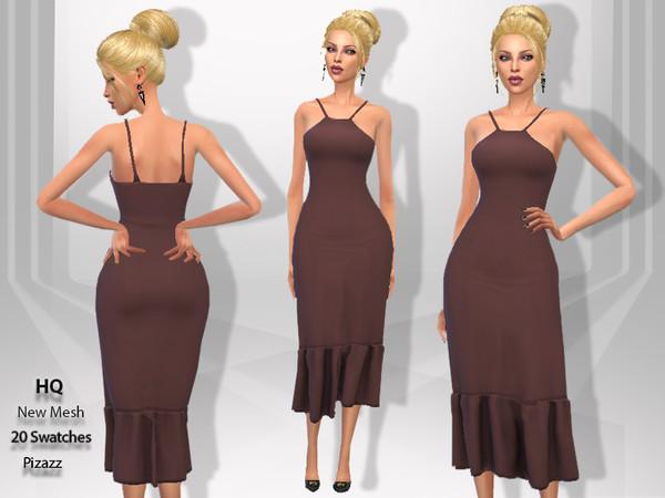 Sims 4 Summer Flair dress by pizazz at TSR