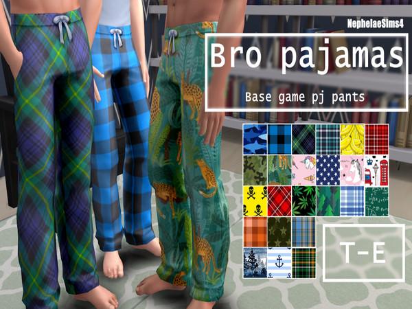 Male Pj Pants set by NephelaeSims4 at TSR image 2126 Sims 4 Updates