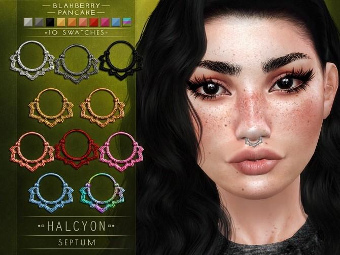 Sims 4 Halcyon septum at Blahberry Pancake