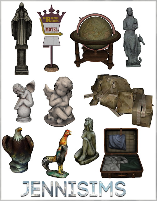 Decorative Statues Softly Falling 11 Items at Jenni Sims image 2151 Sims 4 Updates