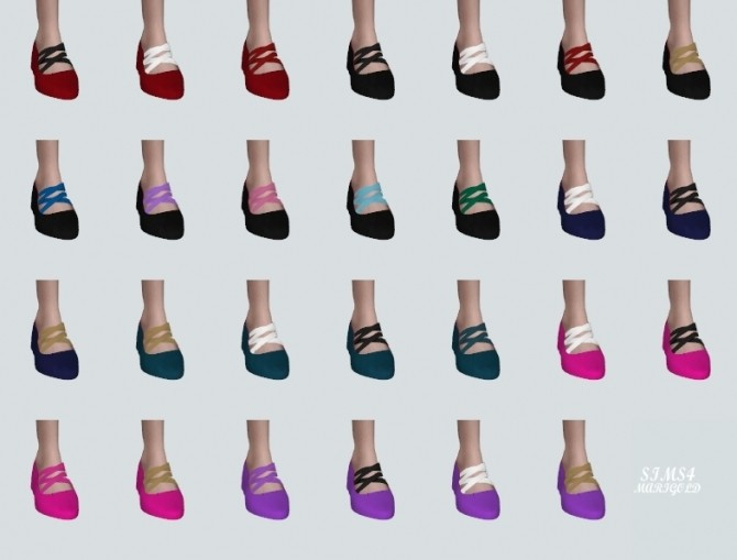 Basic Flat Shoes With X Strap at Marigold image 2197 670x509 Sims 4 Updates