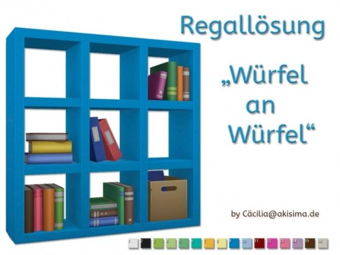 Sims 4 Discover University Shelf recolors by Cacilia at Akisima