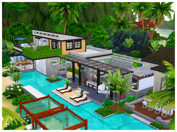 Sims 4 Private Beach House by Mini Simmer at TSR