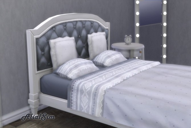 Sims 4 Double bed University at Alial Sim
