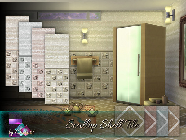 Scallop Shell Tile by emerald at TSR image 2237 Sims 4 Updates