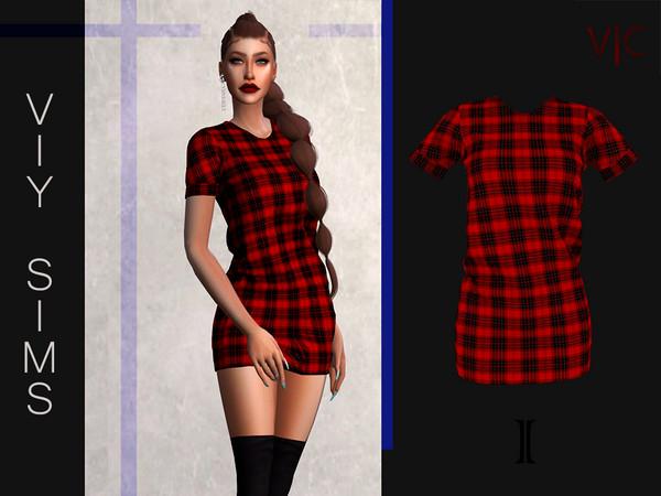Sims 4 Dress I V|C by Viy Sims at TSR