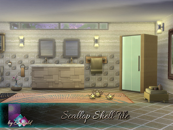 Scallop Shell Tile by emerald at TSR image 2330 Sims 4 Updates