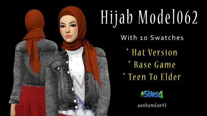 Sims 4 Hijab Model 062 & Hijab Hair 005 + Aminah Collections at Aan Hamdan Simmer93