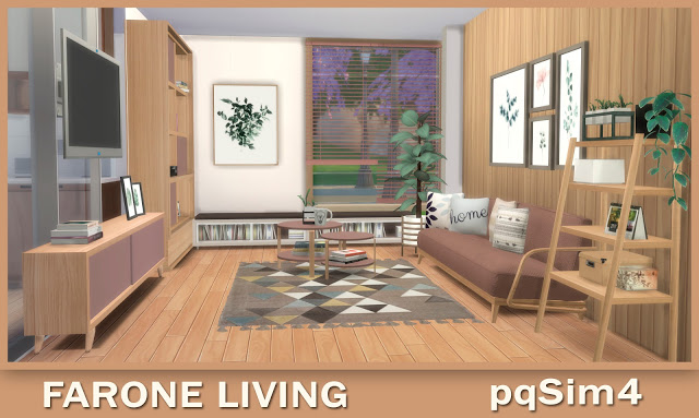 Sims 4 Farone Living at pqSims4