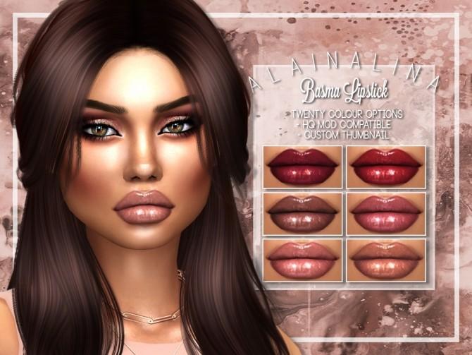 Sims 4 Basma Lipstick at AlainaLina