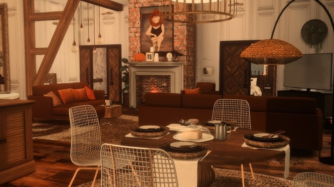 80 | AUTUMN BLISS 122 HAKIM HOUSE at SoulSisterSims image 239 670x375 Sims 4 Updates