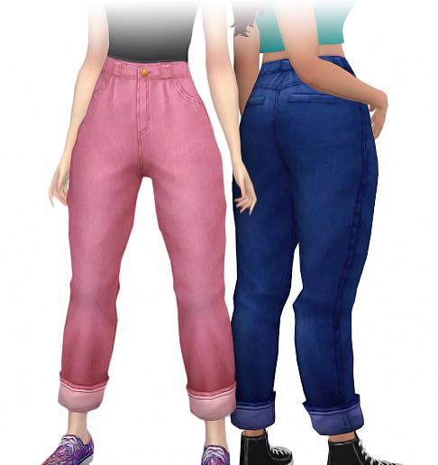 Sims 4 Plum jeans at Simandy