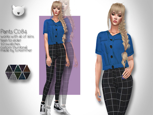 Sims 4 Pants C084 by turksimmer at TSR