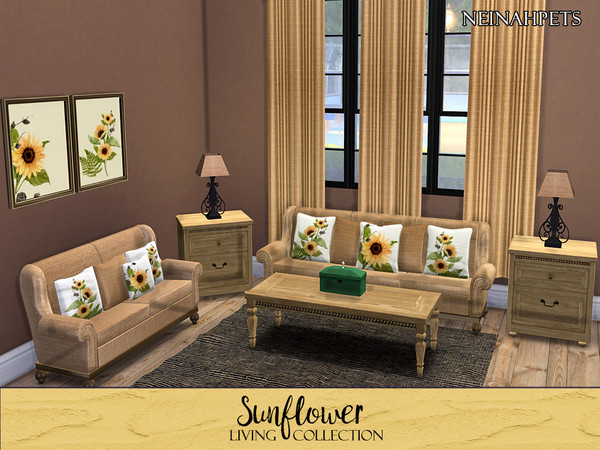 Sunflower Living Collection by neinahpets at TSR image 2428 Sims 4 Updates