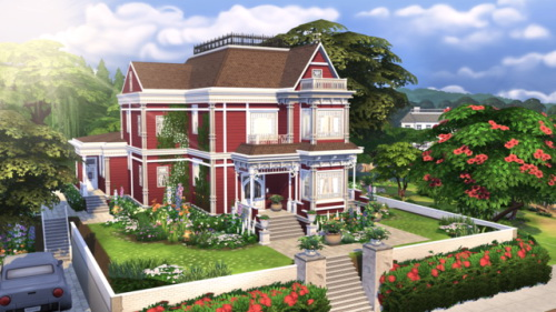 Sims 4 Charmed Halliwell Manor at BERESIMS