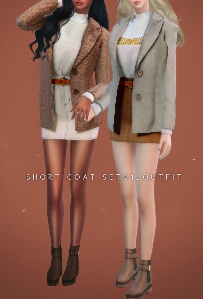 Sims 4 Short Coat Set at NEWEN
