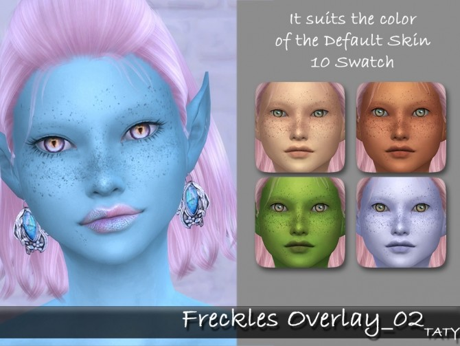 Freckles overlay 02 at Taty – Eámanë Palantír image 2491 670x503 Sims 4 Updates