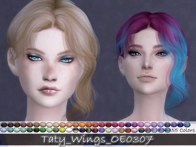 Sims 4 WINGS OE0307 hair retexture at Taty – Eámanë Palantír