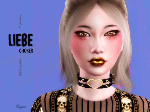 Liebe Choker by Suzue at TSR image 2522 Sims 4 Updates