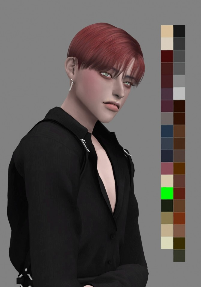 Sims 4 Curtain call hair at SNOOPY