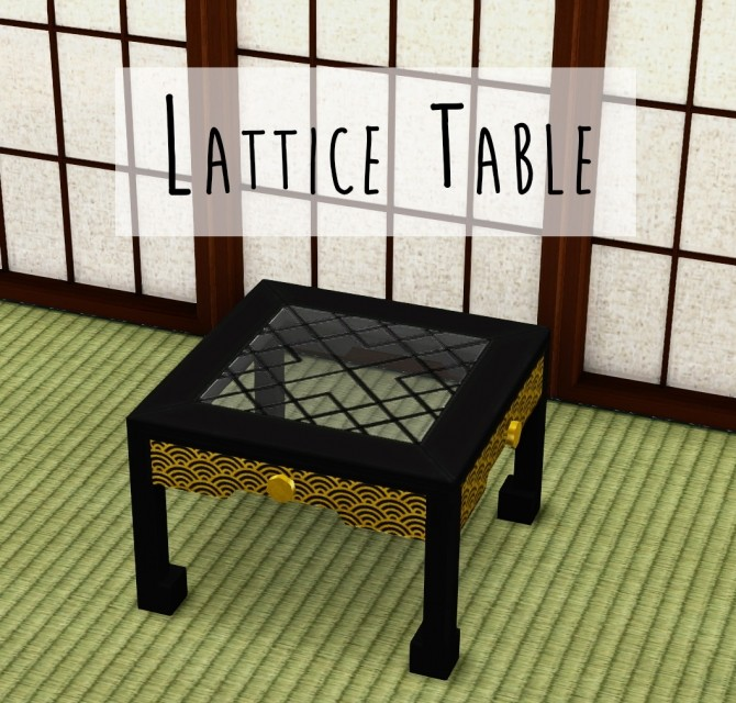 Lattice Table at Teanmoon image 2561 670x640 Sims 4 Updates