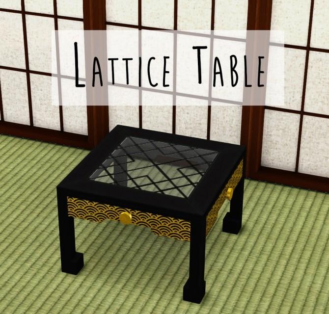 Sims 4 Lattice Table at Teanmoon