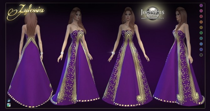 Sims 4 Zylessia dress at Jomsims Creations