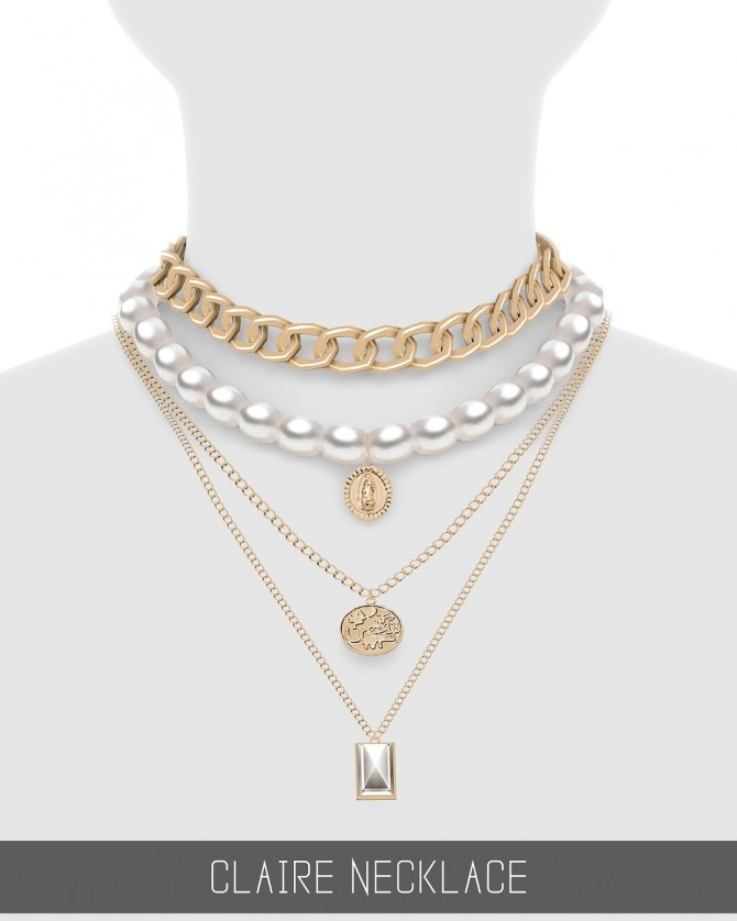 Sims 4 CLAIRE NECKLACE at Simpliciaty