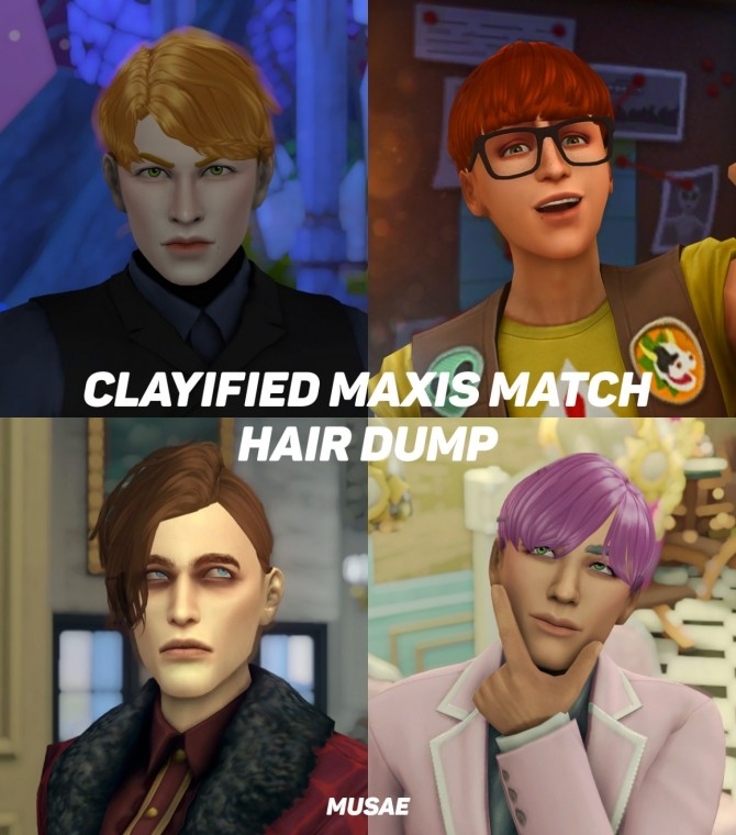Clayified Maxis Match Hair Dump at EFFIE image 2595 670x760 Sims 4 Updates