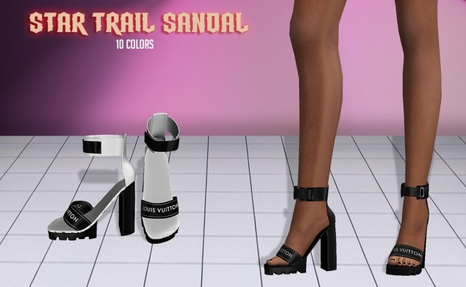 Sims 4 Star Trail Sandals at Vittler Universe