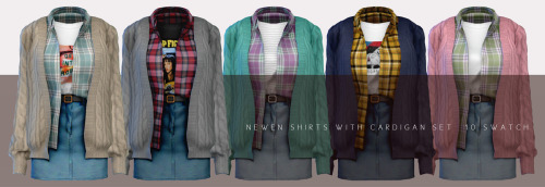 Shirt With Cardigan sets at NEWEN image 26110 Sims 4 Updates