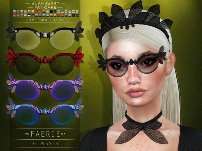 Faerie Set: Crown, Glasses & Collar at Blahberry Pancake image 2631 670x503 Sims 4 Updates