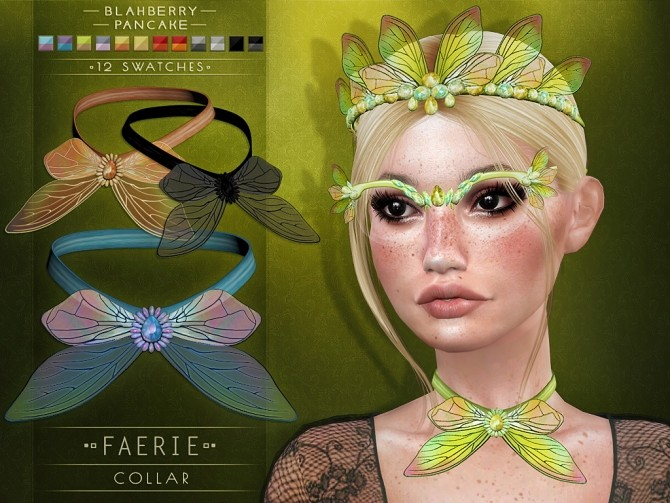 Faerie Set: Crown, Glasses & Collar at Blahberry Pancake image 2641 670x503 Sims 4 Updates