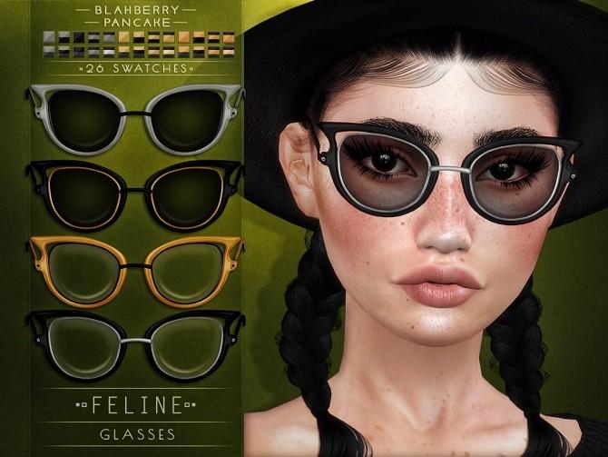 Sims 4 Feline glasses at Blahberry Pancake
