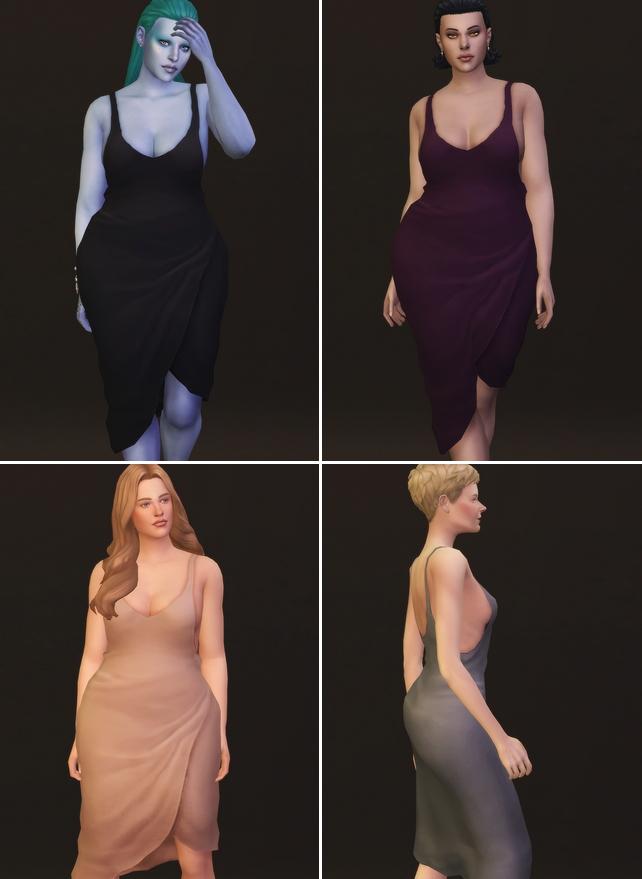 Sims 4 Night Wear Slip dress at Rusty Nail