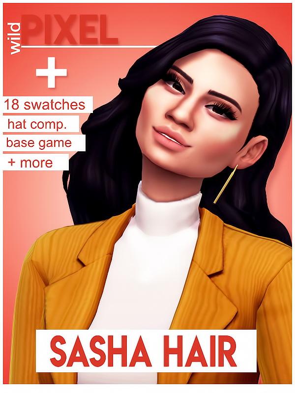Sims 4 SASHA HAIR at Wild Pixel