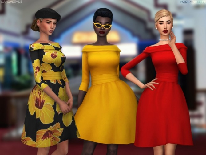 MARILYN DRESS at Candy Sims 4 image 2821 670x503 Sims 4 Updates