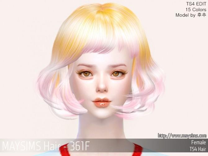 Sims 4 Hair 361F at May Sims