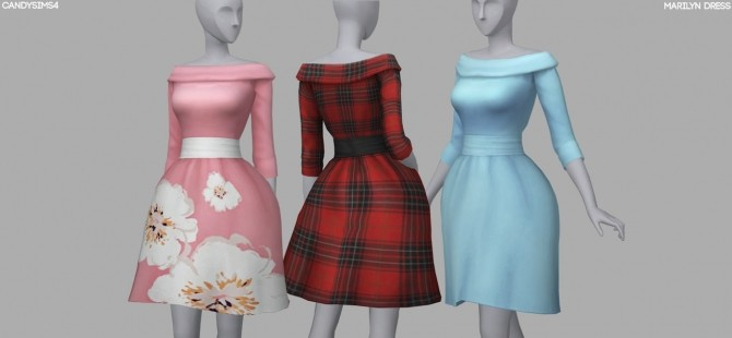 MARILYN DRESS at Candy Sims 4 image 2841 670x310 Sims 4 Updates