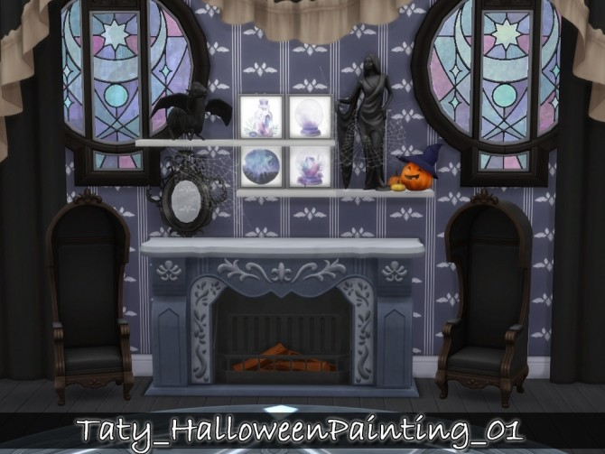 Halloween paintings 01 at Taty – Eámanë Palantír image 285 670x503 Sims 4 Updates