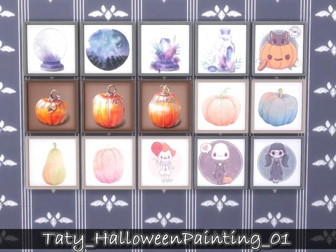 Halloween paintings 01 at Taty – Eámanë Palantír image 286 670x503 Sims 4 Updates