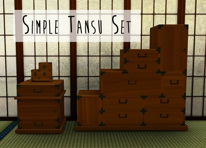 Simple Tansu Set at Teanmoon image 289 670x483 Sims 4 Updates