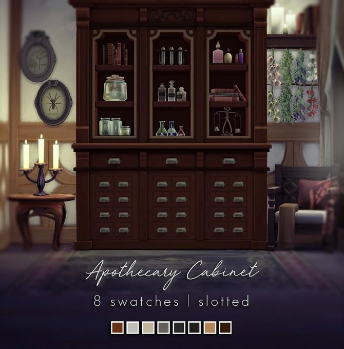 Sims 4 Apothecary Cabinet at Magnolian Farewell